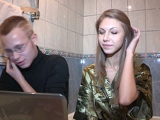 Shy teen bonks for money so that babe can pay bills