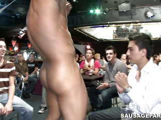 gay stripper has his longjohn played with