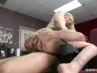 blond teacher giving sex demonstration