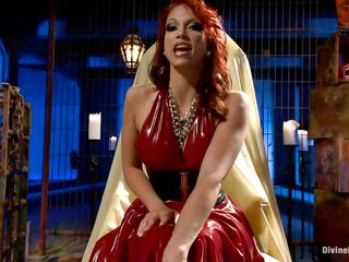 devilish redhead domme shows her best