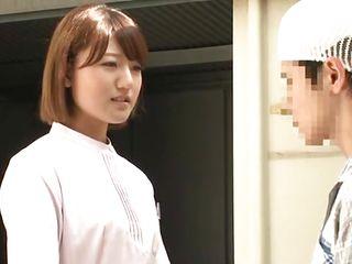 good japanese nurse helps her needy patient