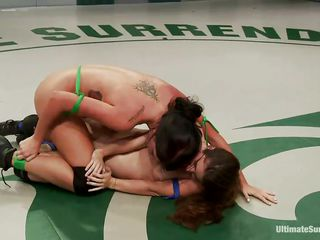 lesbo sweethearts wrestling for supremacy