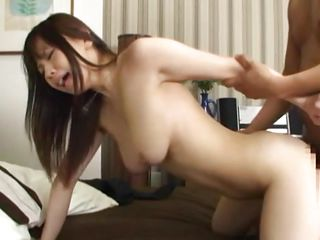 japanese sweetheart takes a sperm into her pussy