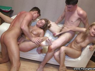 sexy college beauties in a homemade orgy
