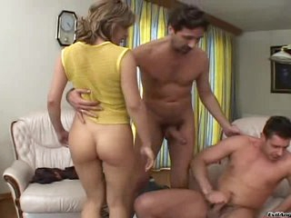 Sizzling babes acquire treated to a double dicking