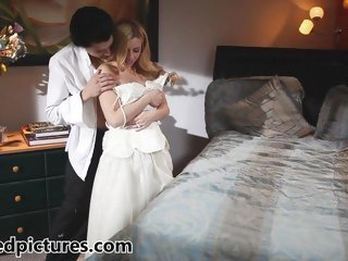 Recent bride Lexi Belle gets fucked by her man