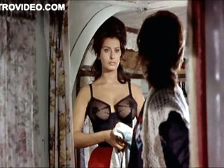 World's Hottest Vintage Celebrity Sophia Loren Wearing Taut Lingerie