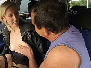 Czech Wench Golden-Haired Street Bitch Wishes it Hard