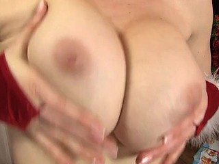 Lusty sweetheart is shoveling three candles into her twat