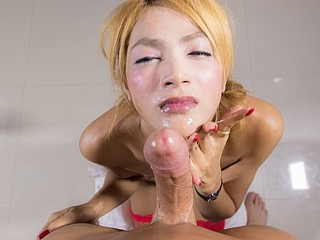 Ladyboy Ning Barebacked and Facialized