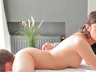 Olga getting brutally group-fucked and receiving sperm on her wet crack