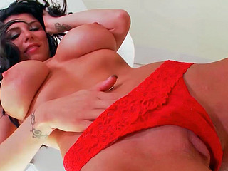 Romi Rain doing naughty stuff while playing with her cunt
