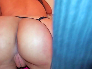 Sandy Ambrosia sucking erect ramrod and getting fucked from behind