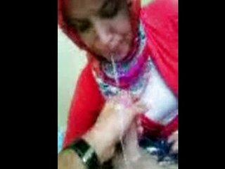 Consummate  Blowjob Turkish Hijab