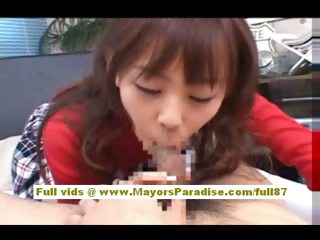 Japanese AV model gives a hot oral-stimulation