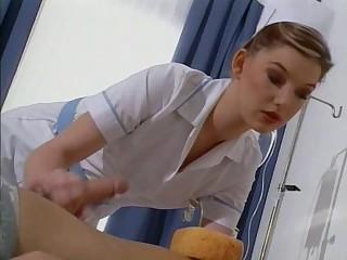 British slut Sarah acquires fucked clothed as a nurse