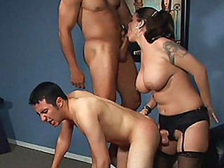 Big-Titted pussy has sex couple bisexuals