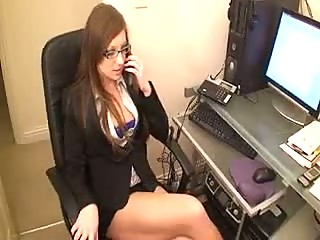 Office babe secretary Rough Interracial oral sex Blowjob Black boss in uniform by zonapona