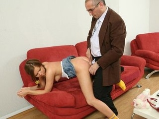 Cute sexy wench gets hardcore with old professor.