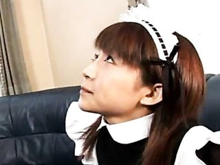 Marvelous Japanese maid cleans up her slavemaster's tool