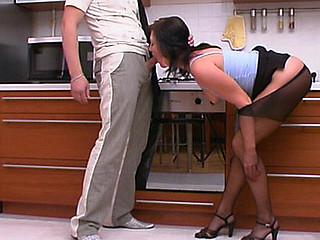 Gwendolen&Adam kinky hose job movie scene