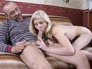 Youthful student bonks her teacher at his office