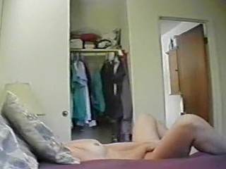 Stay At Home Mama Hidden Webcam Masturbation Double Ended Dildo!