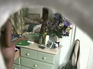 Ebon gf caught on a hidden livecam