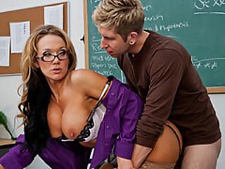 Teacher Nikki Entice By Her Student Named Danny