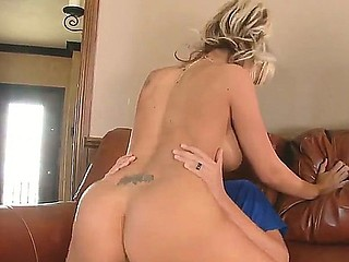 Breasty blonde sweetheart Briana Blair likes to deep suck and fuck Rocco Reeds strong and stiff dick