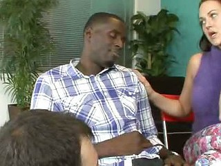 Josi Valentine and Her Hubby Take Turns Engulfing Black Knob