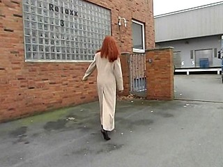 Cute redhead blows and then receives her juicy slit banged hard