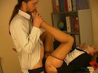 Nell&Paul hawt nylon footsex