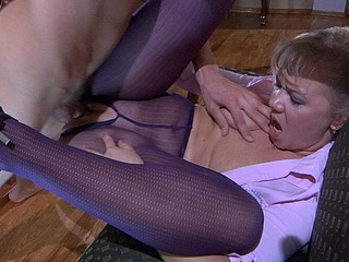 Sandy&Morris screened whilst pantyhosefucking