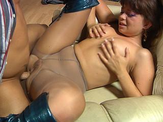 Jessica&Govard nasty anal pantyhose action