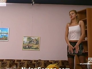 Antoinette&Maurice hot nylon movie scene
