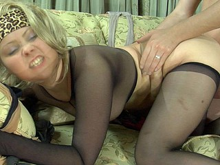 Megan&Rolf excellent pantyhose job movie