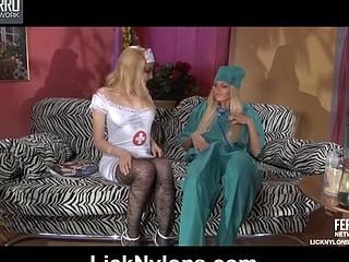 Judith&Dolly nylons lesbian act