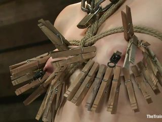 also much clothespins for her diminutive tits...
