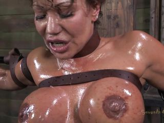 tied, oiled and throat screwed