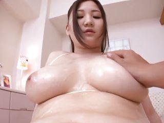 groping some big milky white boobs