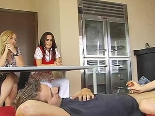 Kinky blond teacher is making sure that her students are fucking right