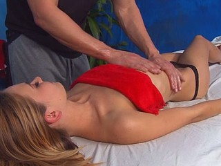 Cute, sexy 18 year old gets drilled hard by her massage therapist