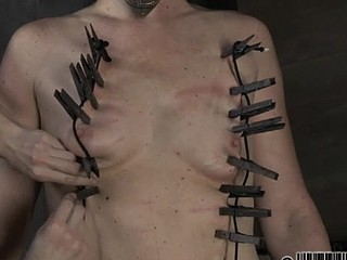 Tough lass acquires electrifying castigation for her nipples