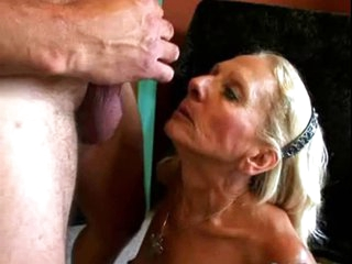 Wrinky and Hairy Granny engulf and fuck