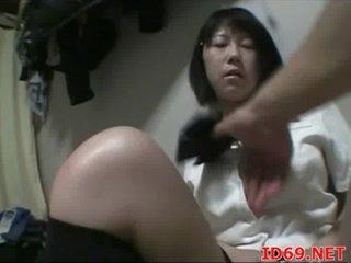 Japanese AV Model undressed and taped