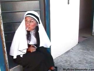TS nun dreams about sex