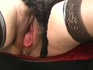 Bizarre older bizarre pussy gaping