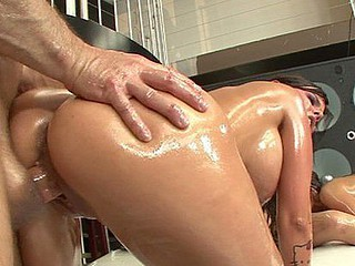 large ass oil orgy two