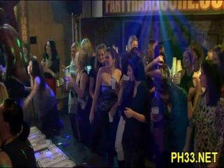 Tons of Blond ladies engulfing dicks